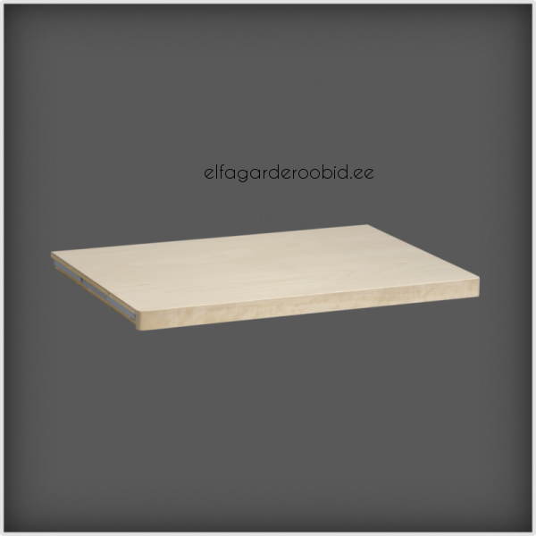 ... A Genuine Wood Veneer Finish   Avaliable In Birch, White And Walnut  Stained Birch. Can Be Used In Conjunction With Closet Rod To Create Hanging  Space.