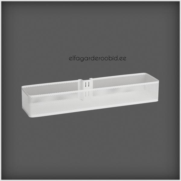 Elfa Utility White Mesh Pantry Door Wall Rack: Door & Wall Rack Basket Mesh
