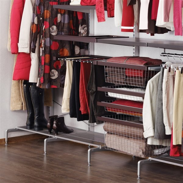 elfa system can be places almost everywhere in the office in the middle of the wardrobe in front of the window or in front of an inclined