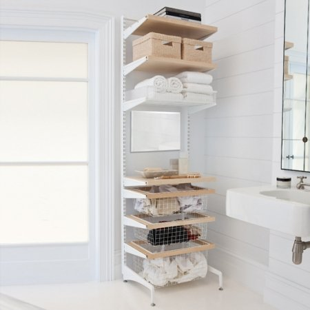 Elfa 174 Freestanding About Elfa Closet Shelves Baskets