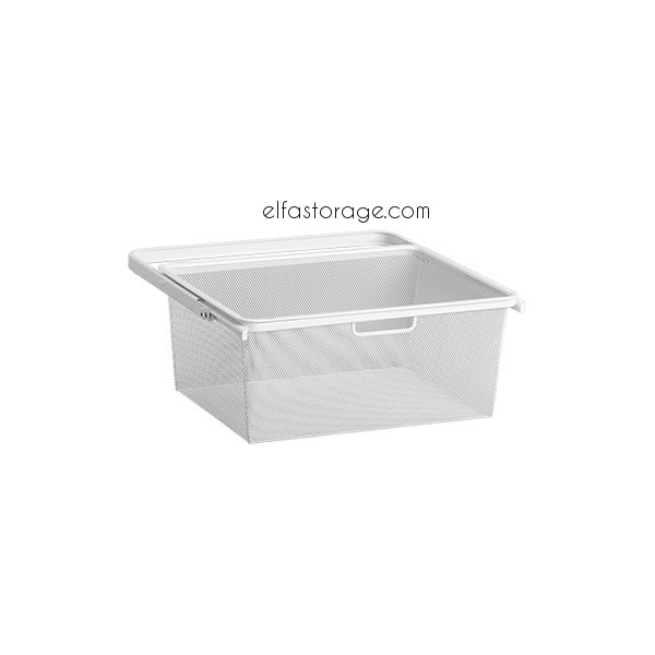 Elfa Gliding Mesh Drawer White 234290 Closet